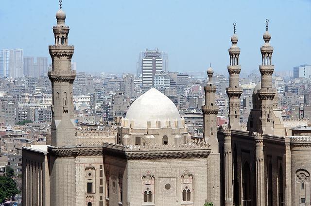 Cairo, Architecture, Minaret, Travel, Religion, Dome