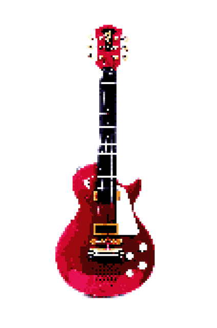 Pixel, Mine, Art, Guitar, Music