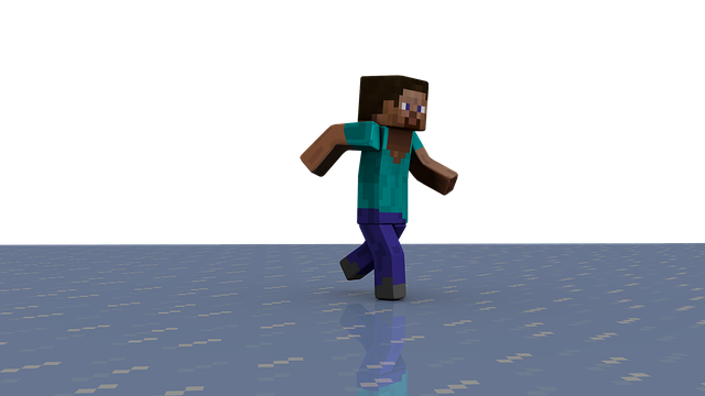 Minecraft, Block, Ice, Steve, Run, Reflection