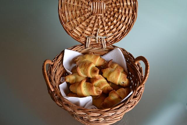 Mini Croissants, Nutella, Basket, Taste, Sweet