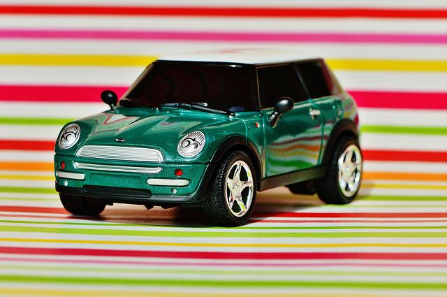 Mini Cooper, Auto, Model, Vehicle, Mini, Green