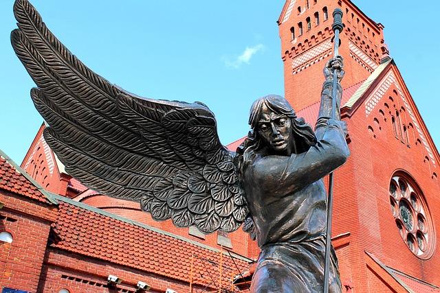 Minsk, Church, Angel, Monument