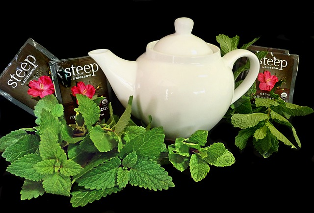 Herbal Tea, Herbs, Mint, Teapot, Lemon Balm, Healthy