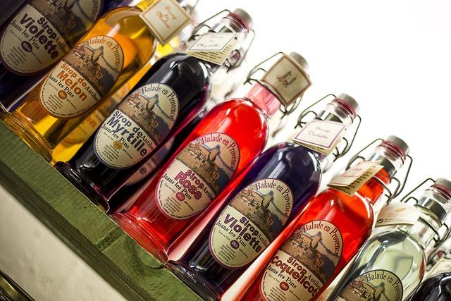 Bottle, Syrup, Blueberry, Drink, Drunk, Mint Julep