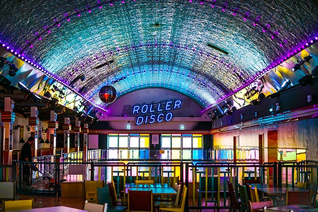 Roller Skating, Disco, Foreign, Neon, Mirror Ball