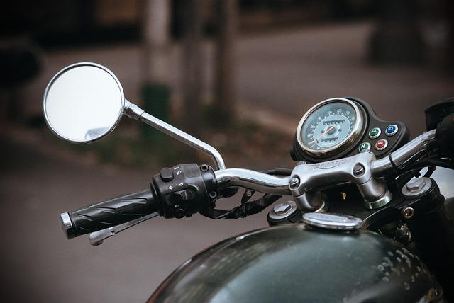 Old, Motorbike, Motorcycle, Mirror, Dashboard, Triumph