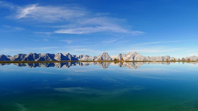 Seespiegelung, Water Reflection, Mirror Lake, Autumn