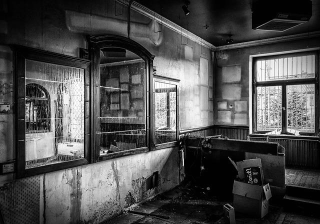 Lost Places, Pforphoto, Pub, Bar, Mirror, Abandoned