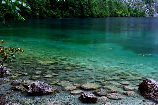 Lake, Stones, Clear, Blue, Water, Nature, Mirroring