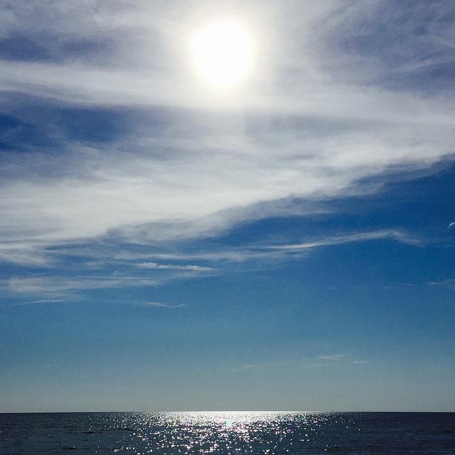 Vättern, Lake, Solar, Cloud, Water, Himmel, Mirroring