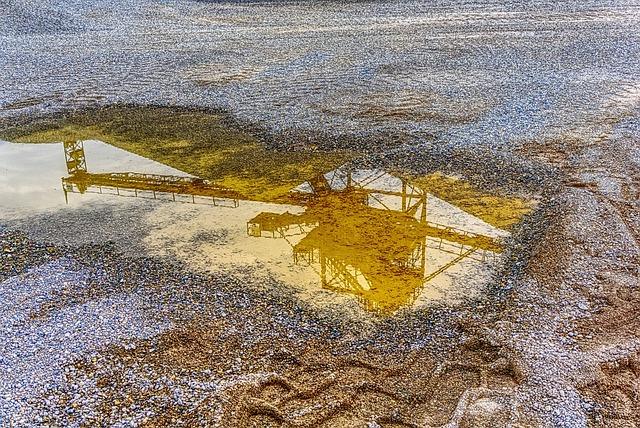 Mirroring, Reflect, Puddle, Water, Wet, Kieswerk