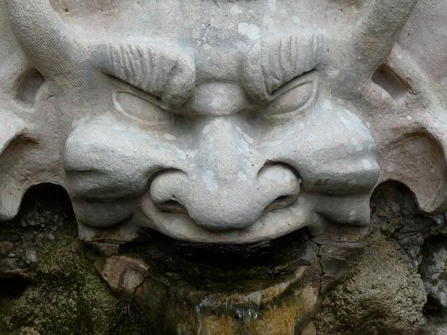Stone Figure, Devil, Grim, Evil, Jinx, Misfortune
