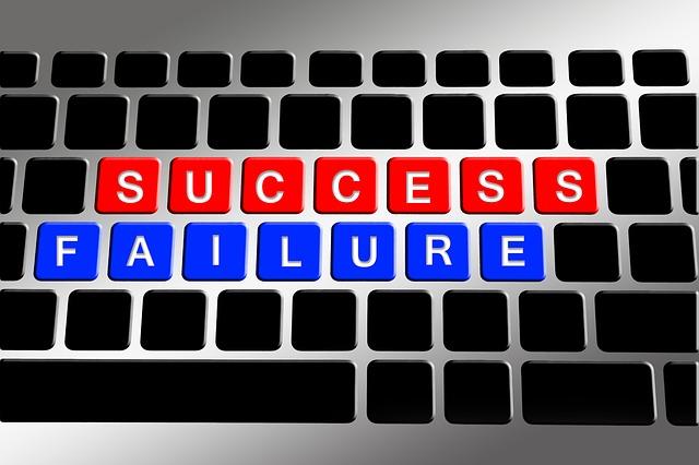 Keyboard, Success, Successful, Misfortune, Defeat, Loss