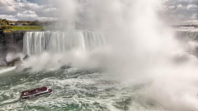 Boat, Fog, Mist, Rapids, River, Splash, Water