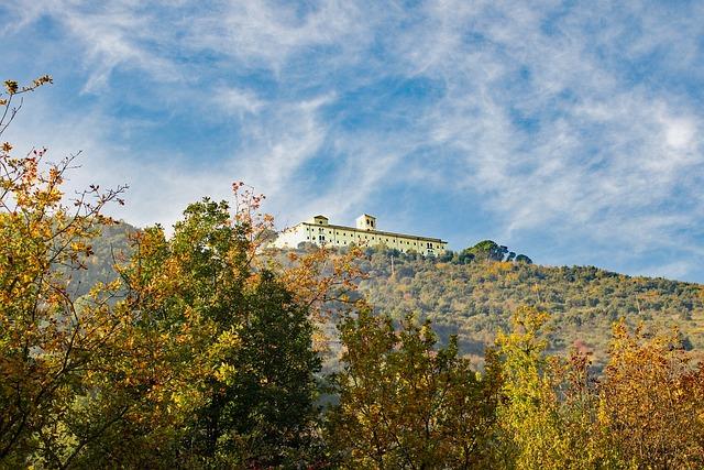 Abbey Montecassino, Montecassino, Mist, Landscape