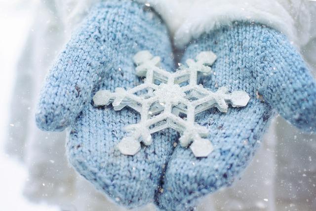 Snow, Winter, Mittens, Snowflake, Cold, Season