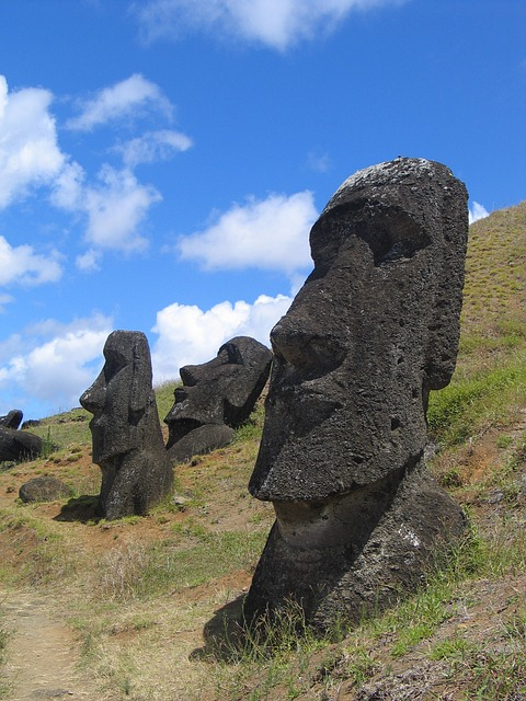 Easter Island, Head, Mystical, Moai, Rano Raraku
