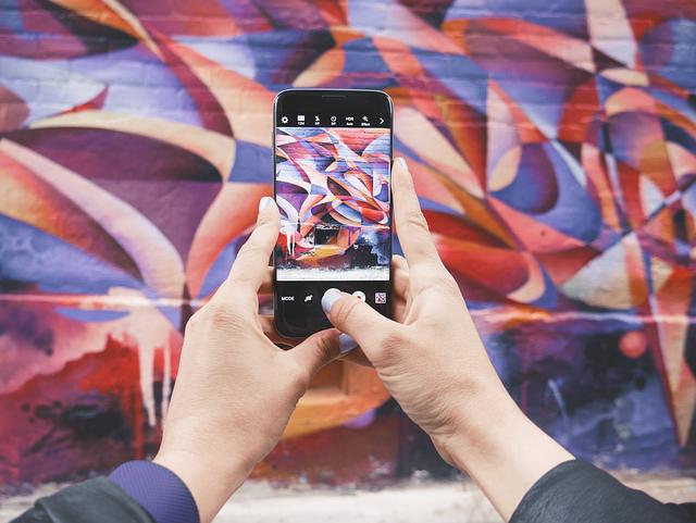 Art, Electronics, Graffiti, Hands, Mobile Phone