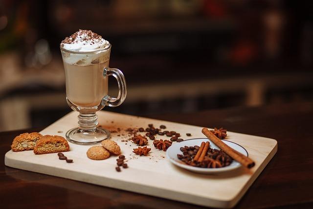 Coffee, Chocolate, Food, Drink, Table, Breakfast, Mocha
