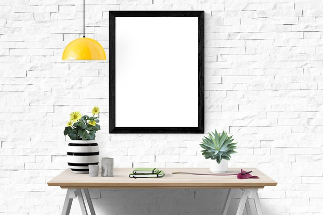 Mockup, Interior, Template, Modern, Space, 3d, Poster