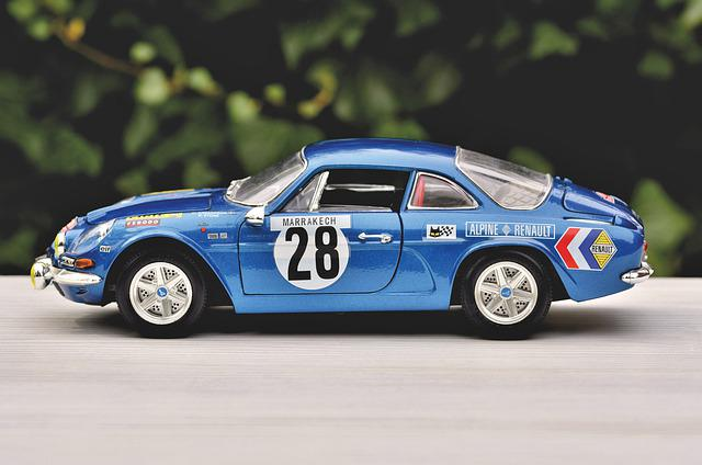 Model Car, Renault, Renault Alpine Model, Auto