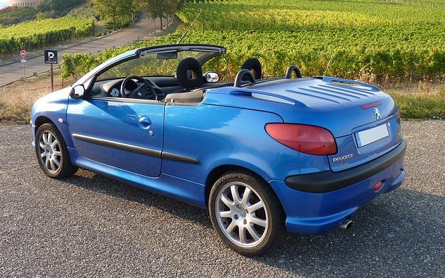 Peugeot, Cc, Model, Car, Convertible, Cabriolet, Blue