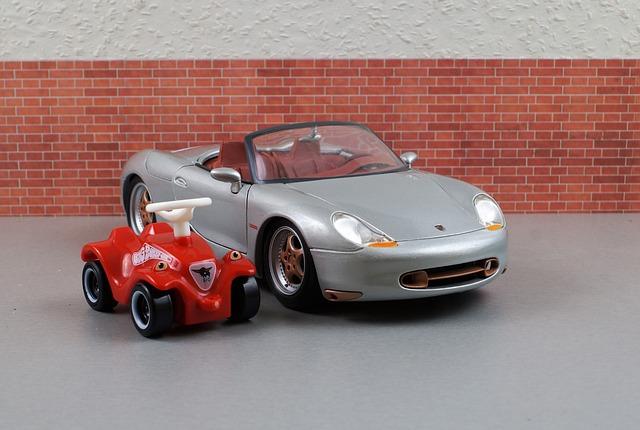 Model Car, Porsche, Boxster, Bobby Car, Sporty, Silver