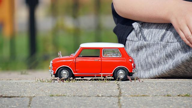 Model, Car, Mini Cooper, Red, Vehicle, Colourful
