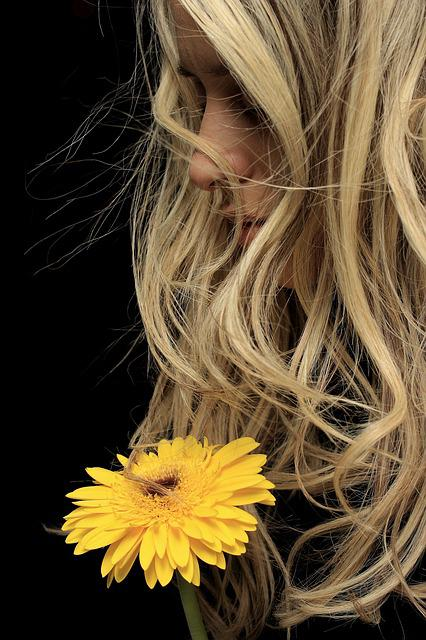 Model, Exposure, Yellow, Flower, Young Model, Fiction
