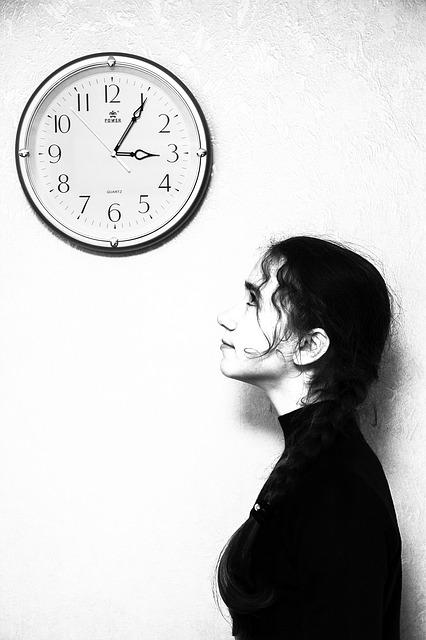 Girl, Clock, Person, Time, Thinking, Women, Model