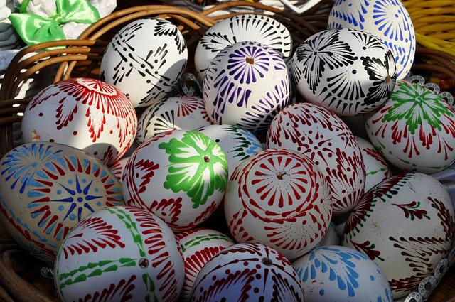 Model, Traditional, Handcrafted, Easter Eggs