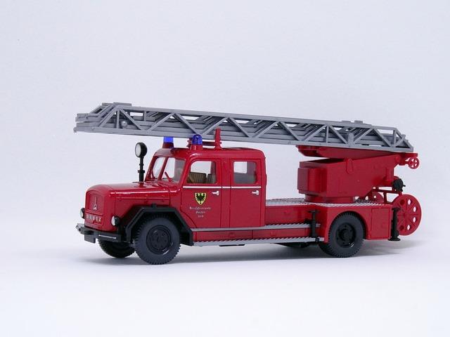 Fire, Turntable Ladder, Magirus, Eckhauber, Model