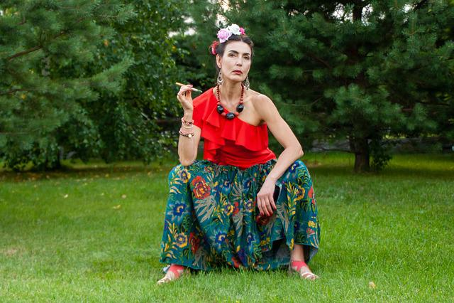 Woman, Frida, Mexico, Portrait, Model