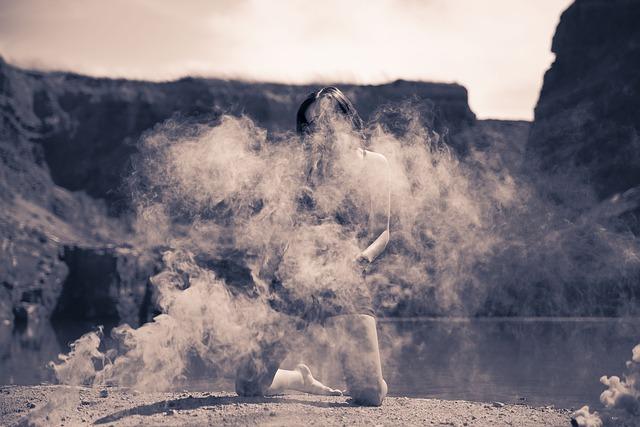 Mystical, Photo Shoot, Model, Outdoor, Smoke Bomb