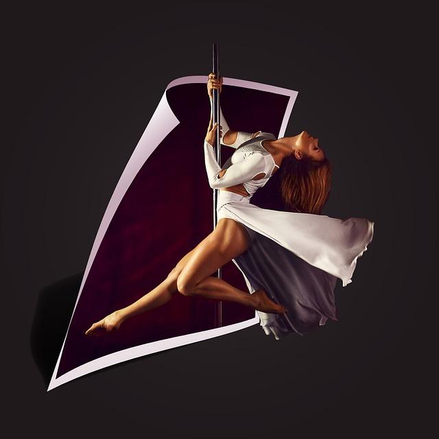 Pylon, Flight, Girl, Model, Dance, Dance Floor, Soar