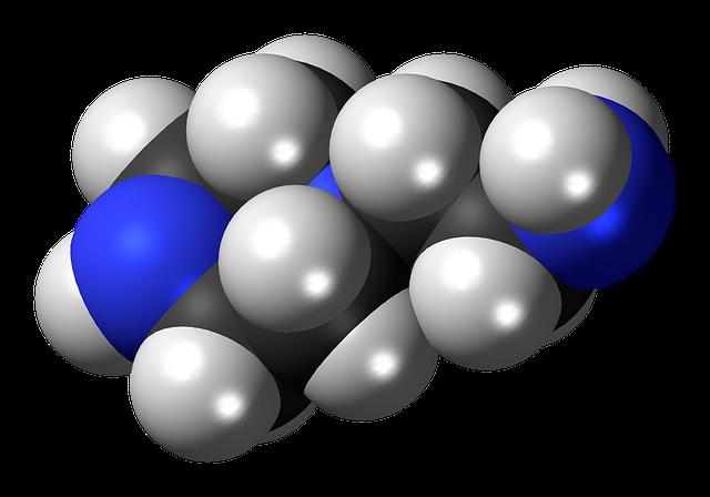 Aminoethylpiperazine, Spacefill, Model, Molecule