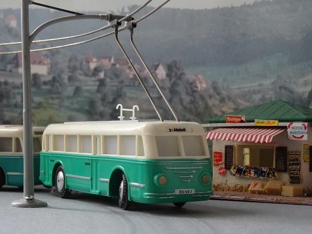 Trolley Bus, Trackless Trolley, Model, Model Train