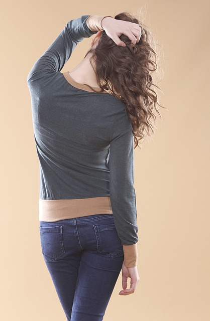 Model, Studio, Back, Hip, Rear, Young, Women's