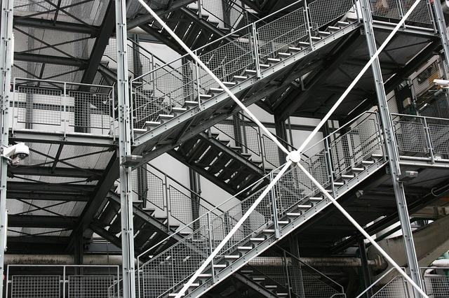 Ladder, Pompidou, Modern Architecture, Paris