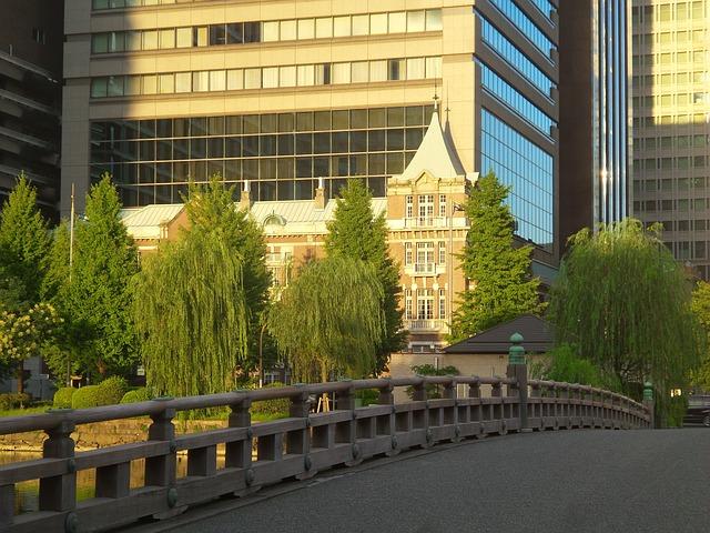 Japan, Tokyo, Traditional, Bridge, Modern, Background