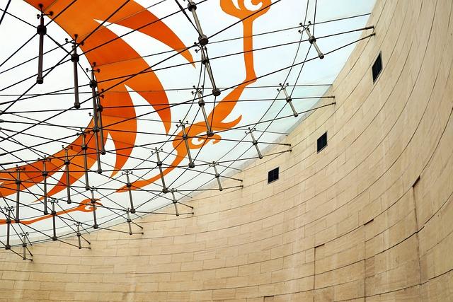 Indoor, Building, Steel, Modern, Structure, Geometry