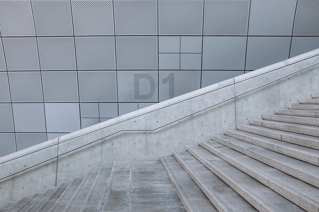 Stairs, Architecture, Concrete, Modern, Patterns