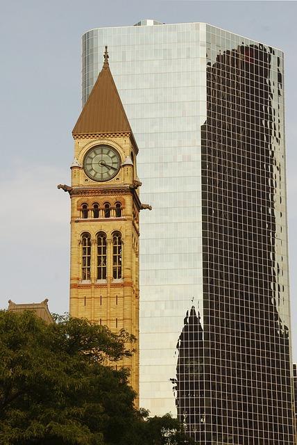 Canada, Toronto, Former, Modern, Tower, Business