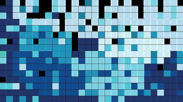 Blue, Tile, Mosaic, Modern