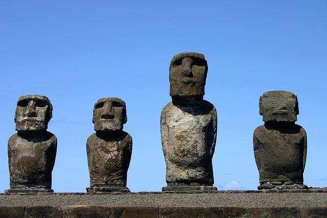 Easter Island, Rapa Nui, Mohais, Chile, Mohai