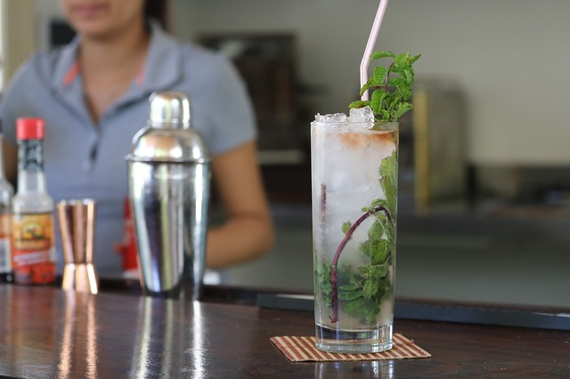 Drink, Glass, Alcoholic Beverage, Cocktail, Bar, Mojito