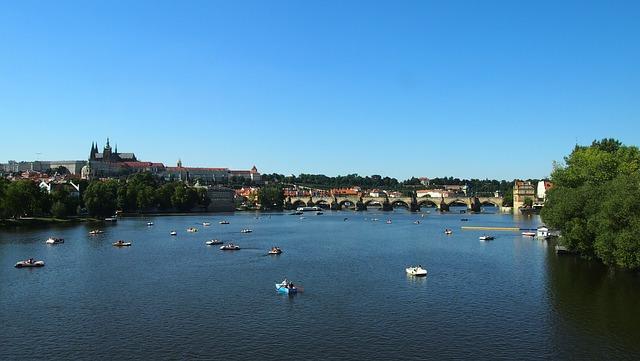 Prague, Moldova, Charles Bridge, Architecture, Praha