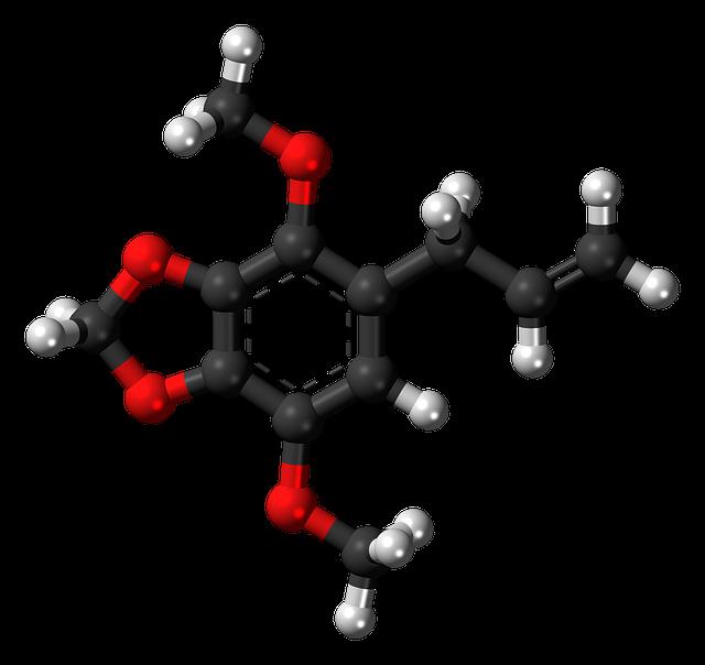 Apiol, Phenylpropanoid, Parsley, Molecule, Model, Ball