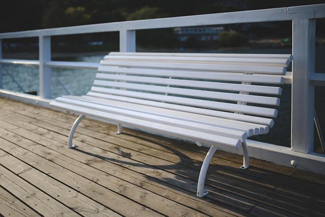 White, Bench, Pier, Molo, White Paint