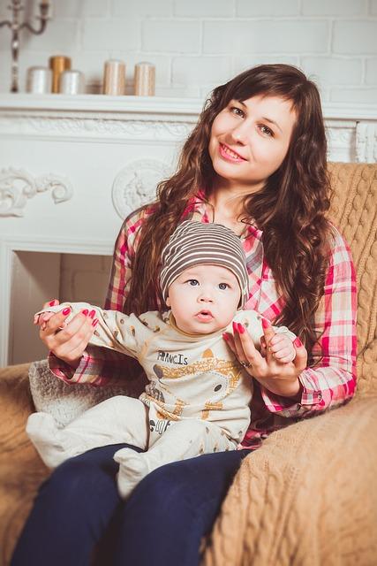 Family, Photoshoot, Armchair, Mom, Sons, Interior, Baby